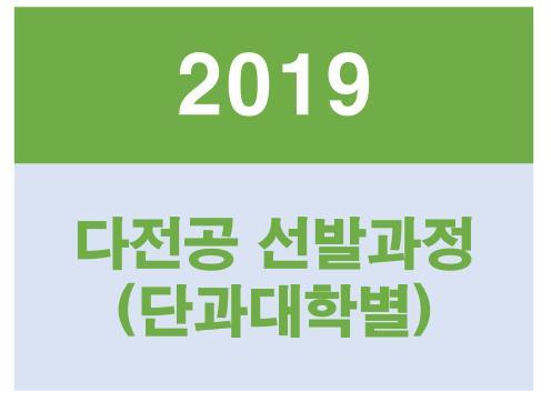2019 다중전공 선발과정_마이크로전공개설현황